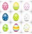 Beautiful Easter Egg Set vector image