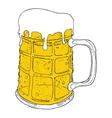 Beer mug2 vector image vector image