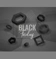 black friday abstract geometric shapes background vector image vector image