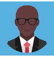 Black Man in Business Suit Icon vector image vector image