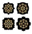 black shapes with golden antiquarian geometric vector image vector image