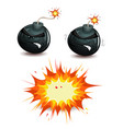 bomb blasting vector image vector image