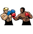 boxing fight vector image vector image