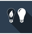 Bulb icon with long shadow vector image vector image