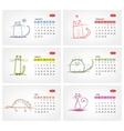 calendar 2012 july Funny cats design vector image