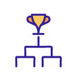 championship cup icon outline vector image vector image