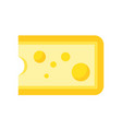 cheese dairy product concept flat icon vector image vector image