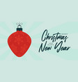 christmas card retro style new year banner vector image