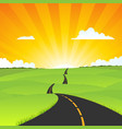 country road landscape vector image vector image