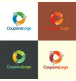 coupons logo and icon vector image vector image