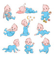 cute baby boy infant in diaper vector image