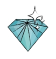 Diamond luxury fashion vector image vector image