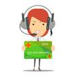 dispatcher bank customer service vector image