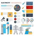 Electricity Infographics Set vector image vector image