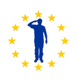 European salute vector image