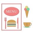 fast food menu template vector image vector image
