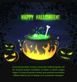 festive happy halloween poster vector image vector image