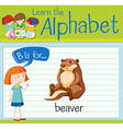 Flashcard letter B is for beaver