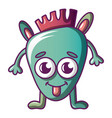 Funny monster icon cartoon style