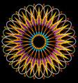 geometric mandala representing cosmos vector image vector image