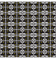 geometric seamless pattern black and white of vector image vector image