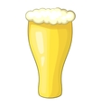 Glass of beer icon cartoon style vector image