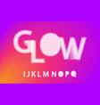 glow halftone font alphabet i j k l m n o p q vector image vector image