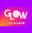 glow halftone font alphabet i j k l m n o p q vector image