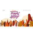 hand drawn happy thanksgiving typography banner vector image vector image