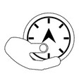hand with speedometer vector image vector image
