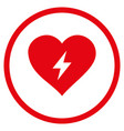 heart power rounded icon vector image vector image