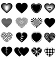 Hearts icons set vector image vector image