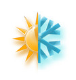heat and cold showing hot or vector image vector image