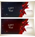 Holiday banners with red bows and copy space vector image vector image