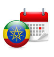 Icon of national day in ethiopia vector image vector image