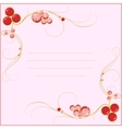 jewel blank for card vector image vector image