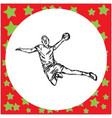 male handball player hand drawn vector image vector image