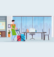 man pushing trolley cart male cleaner janitor in vector image vector image