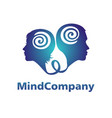 modern head logo of psychology profile human man vector image vector image