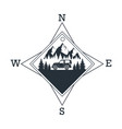 mountain dventure logo vector image vector image