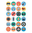 Multimedia Flat Icons 1 vector image