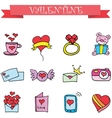 Object valentine day collection stock vector image vector image