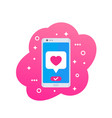 online dating app icon vector image vector image