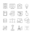 Program Development Line Icon Set vector image vector image