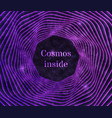 purple cosmos background vector image