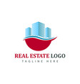 real estate logotype template construction logo vector image vector image