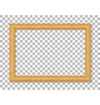 realistic wooden picture frame isolated on vector image vector image
