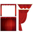 red curtains in different styles vector image vector image