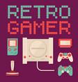 retro gamer concept vector image
