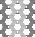 Ribbons gray shades overlapping grid pattern vector image vector image